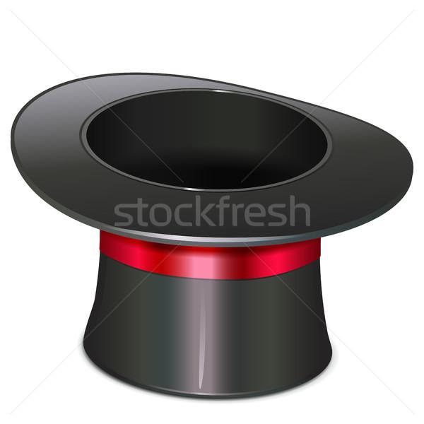 Vektor mágikus kalap ikon izolált fehér Stock fotó © dashadima