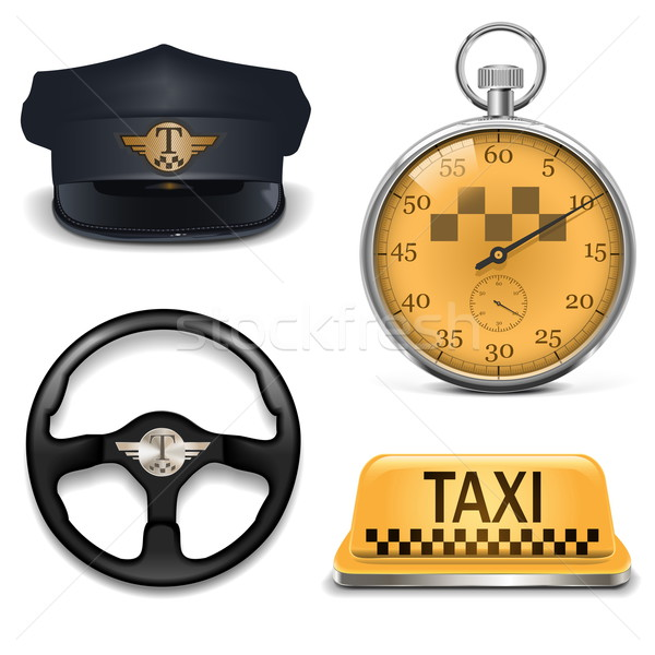 Vector Retro Taxi Icons Stock photo © dashadima