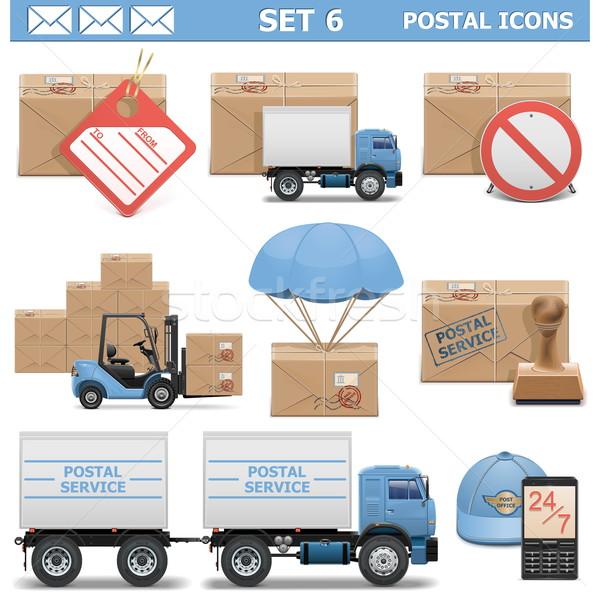 Vector Postal Icons Set 6 Stock photo © dashadima