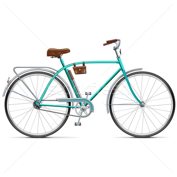 Vector Bicycle with Rounded Frame Stock photo © dashadima