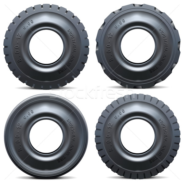 Vector Forklift Tractor Tire Stock photo © dashadima