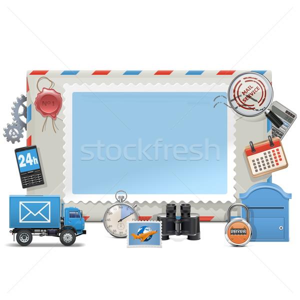 вектора почты совета изолированный белый бизнеса Сток-фото © dashadima