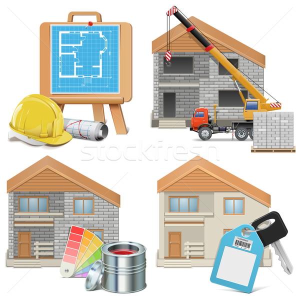 Vector Homebuilding Concept Stock photo © dashadima