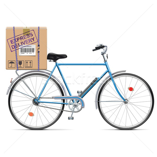 Vector Delivery Bicycle with Carton Box Stock photo © dashadima