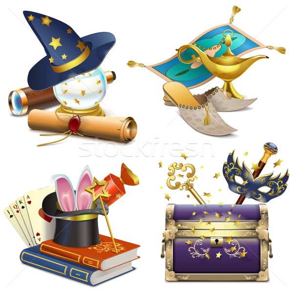 Vector Magic Concept Icons Stock photo © dashadima