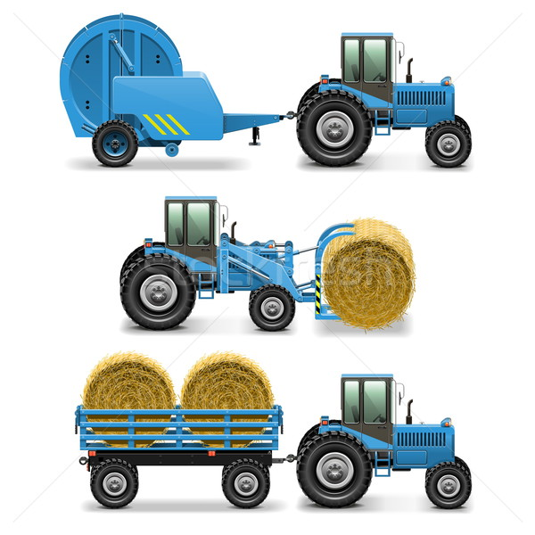 Vector Agricultural Tractor Set 5 Stock photo © dashadima