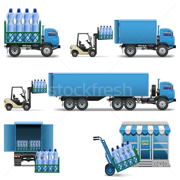 Vector Mineral Water Shipping Stock photo © dashadima