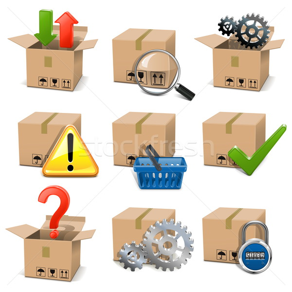 Stock photo: Vector Shipment Icons Set 8
