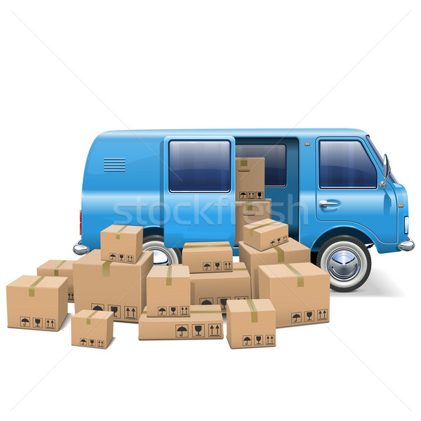 Vector Delivery Minivan Stock photo © dashadima