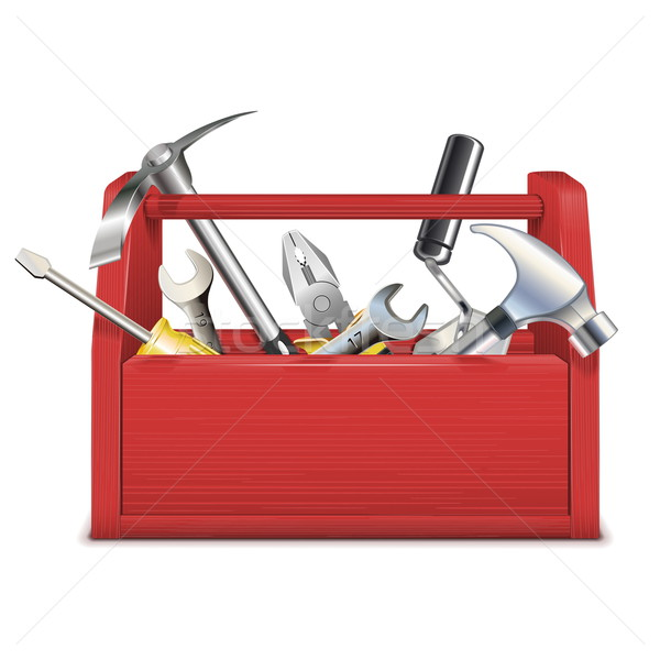 Vector Red Toolbox Stock photo © dashadima