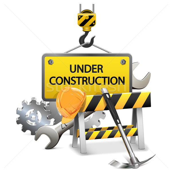 Vector Under Construction Concept with Frame Stock photo © dashadima