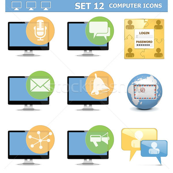 Vector Computer Icons Set 12 Stock photo © dashadima