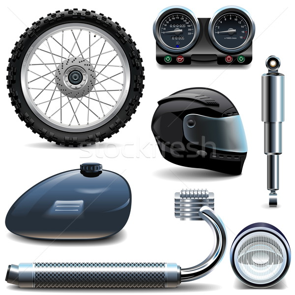 Vector Motorcycle Spares Icons Stock photo © dashadima
