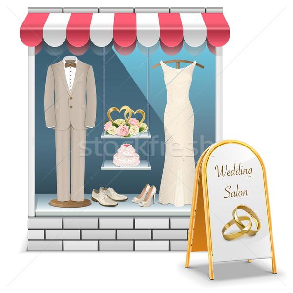Vetor casamento boutique isolado branco mulher Foto stock © dashadima