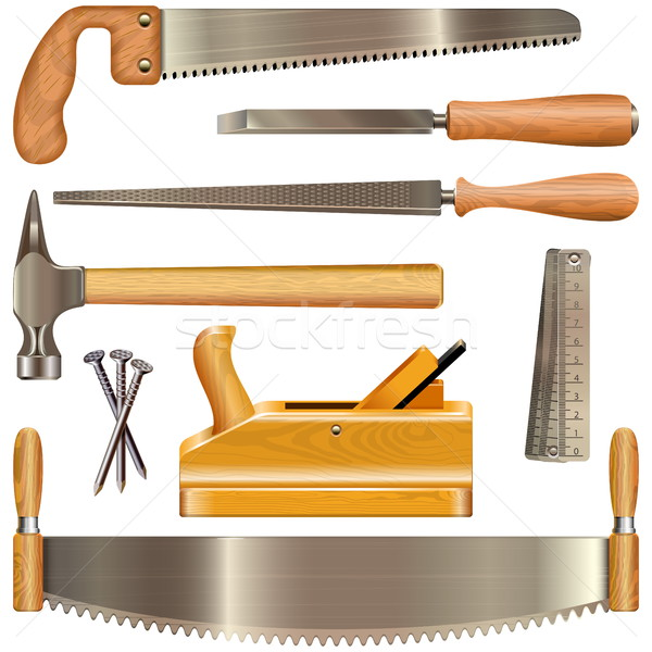 Vector Carpentry Tools Stock photo © dashadima