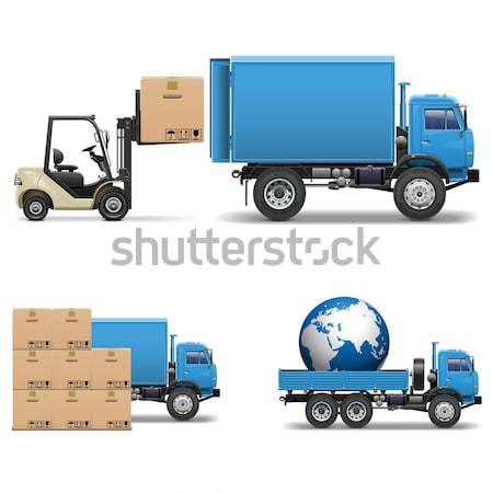 Vector Shipment Icons Set 5 Stock photo © dashadima