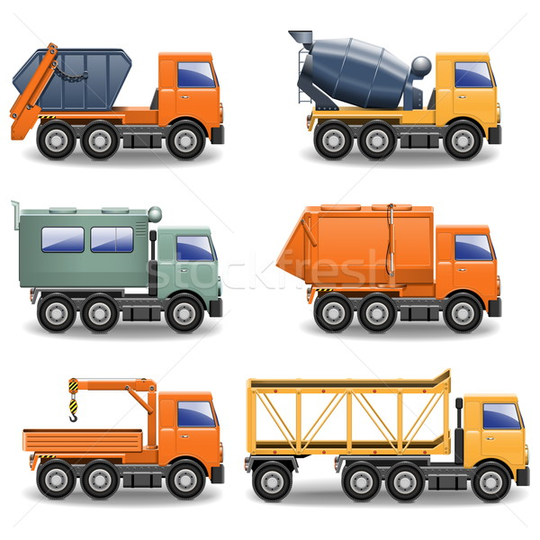 Stock photo: Vector Construction Machines Set 2