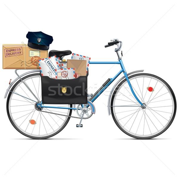 Vettore bicicletta isolato bianco strada metal Foto d'archivio © dashadima