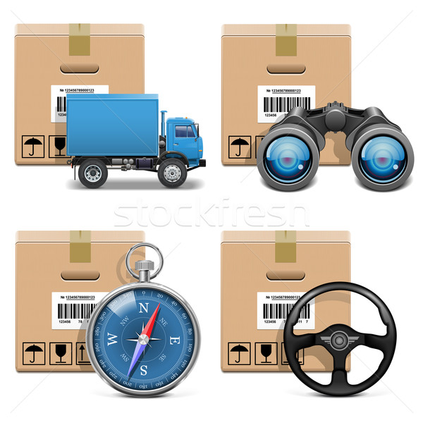 Vector Shipment Icons Set 11 Stock photo © dashadima