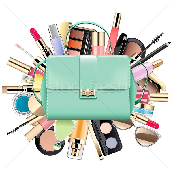 Vector cosméticos bolsa aislado blanco moda Foto stock © dashadima