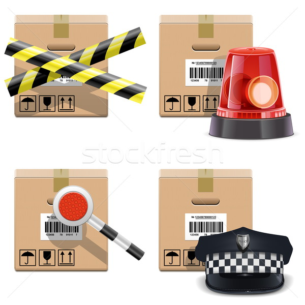 Vector Shipment Icons Set 25 Stock photo © dashadima