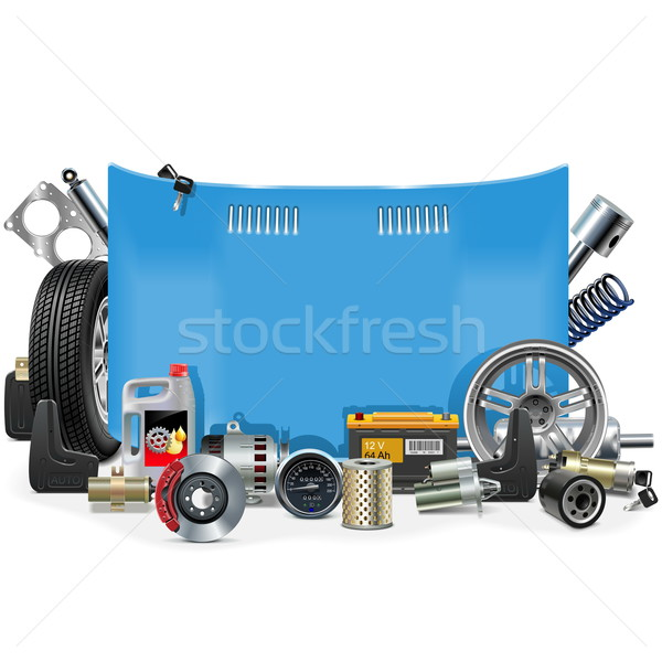 Vector Car Spares Frame Stock photo © dashadima