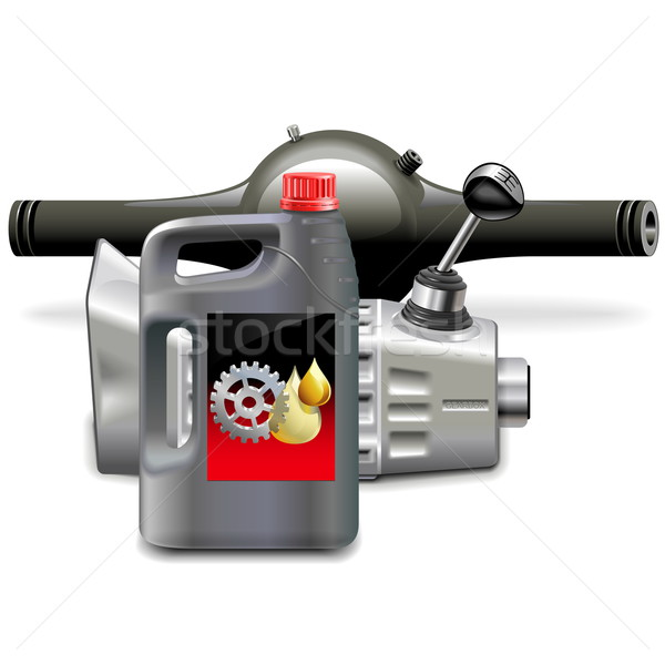 Vector versnellingsbak olie geïsoleerd witte metaal Stockfoto © dashadima