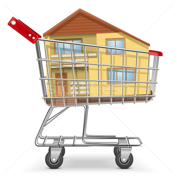 Stock photo: Vector Cart with Cottage