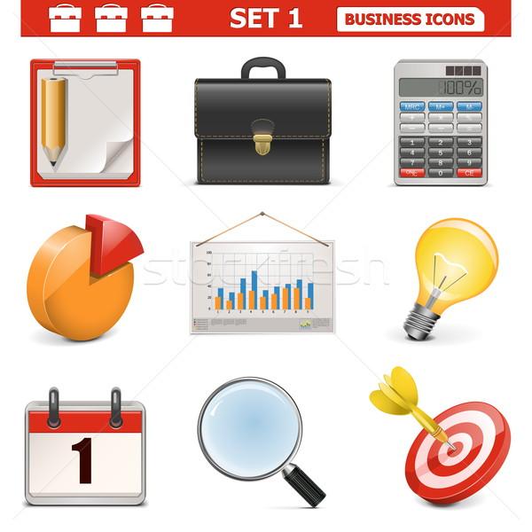 Vektor Business Anzug Rechner Ziel Stock foto © dashadima