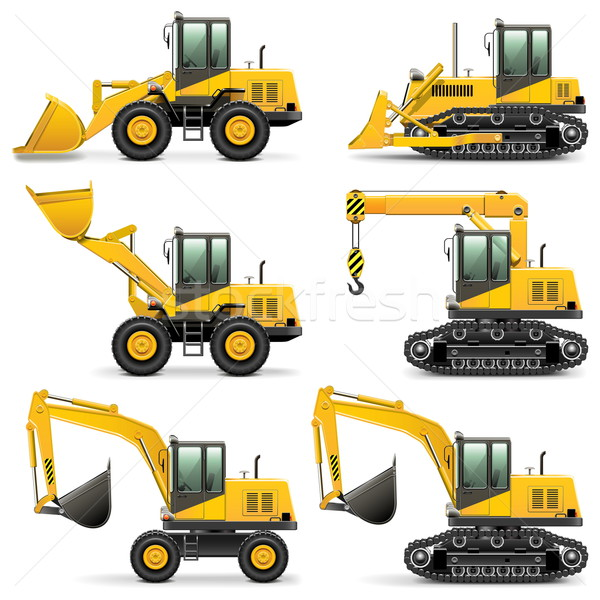 Stock photo: Vector Construction Machines Set 3