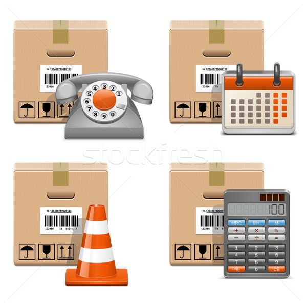 Vector Shipment Icons Set 13 Stock photo © dashadima