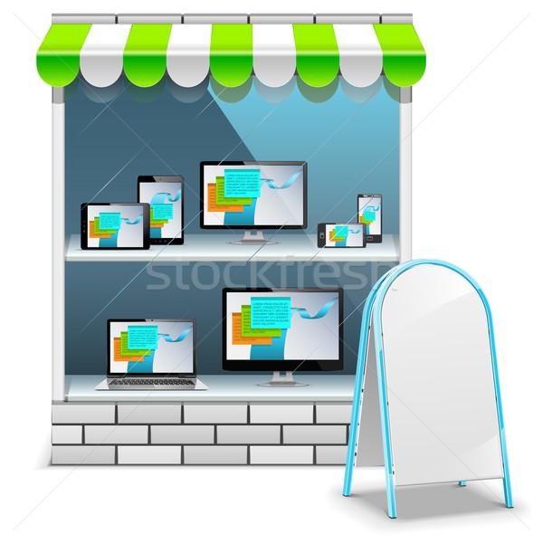 Vector Computer Store Stock photo © dashadima