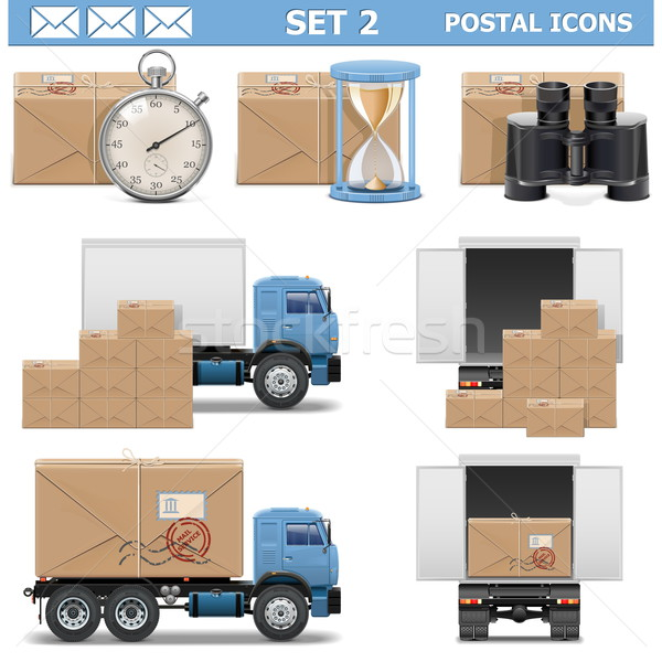 Vector Postal Icons Set 2 Stock photo © dashadima