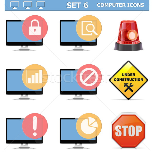 Vector Computer Icons Set 6 Stock photo © dashadima