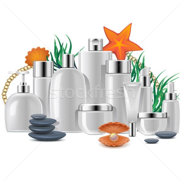 Vector cosméticos envases aislado blanco pelo Foto stock © dashadima