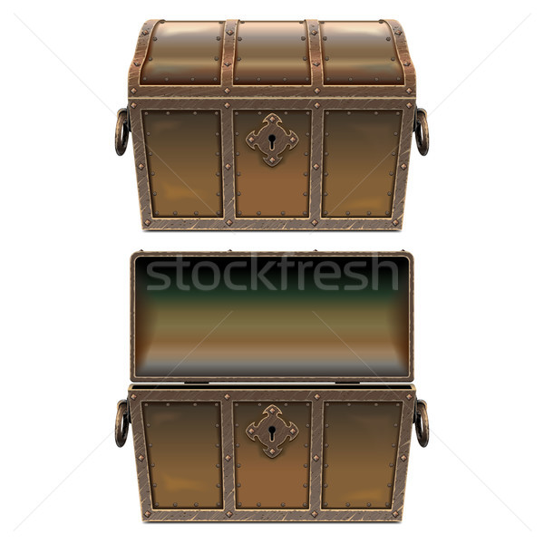 Vector Old Fairy Forged Chest Stock photo © dashadima