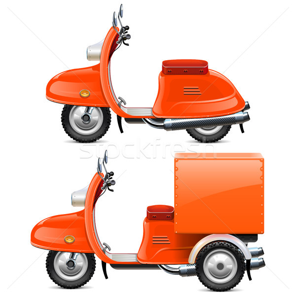 Vector Orange Scooters Stock photo © dashadima