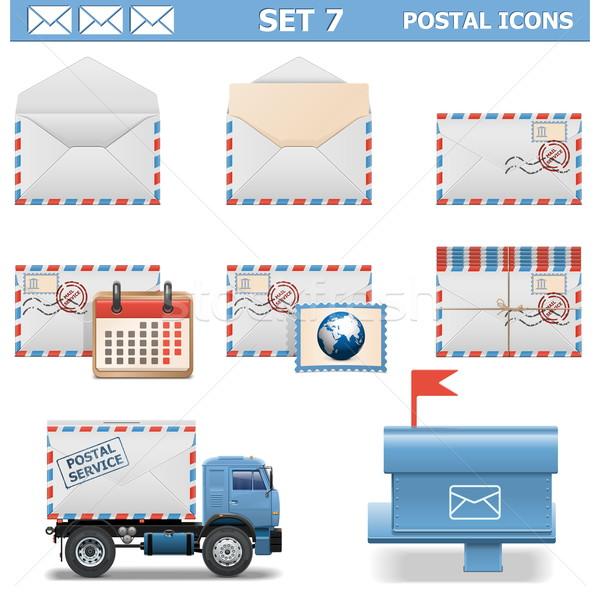 Vector Postal Icons Set 7 Stock photo © dashadima