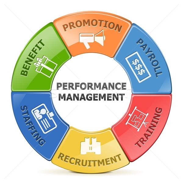 Wektora wydajność zarządzania odizolowany biały finansów Zdjęcia stock © dashadima