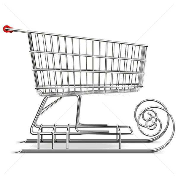 Vector Supermarket Sled Stock photo © dashadima