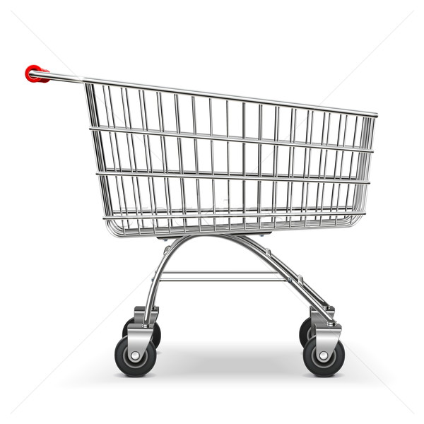 Vector Supermarket Trolley Stock photo © dashadima
