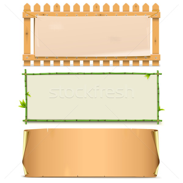 Vector Boards Set 5 Stock photo © dashadima