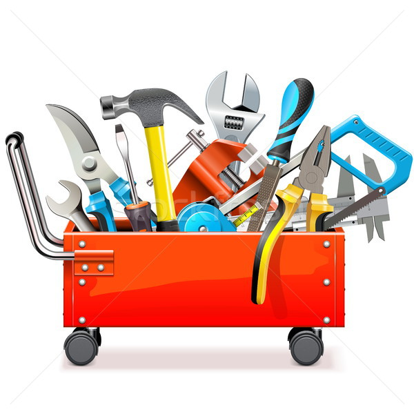 Vector Toolbox Trolley with Tools Stock photo © dashadima