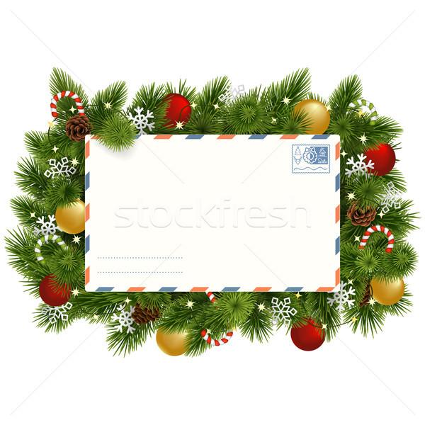 Vektör Noel kartpostal yalıtılmış Stok fotoğraf © dashadima