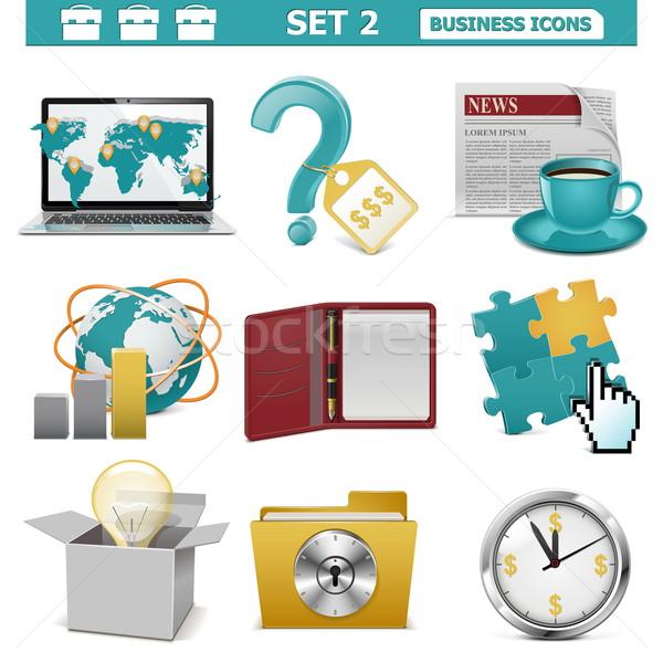 Vector Business Icons Set 2 Stock photo © dashadima