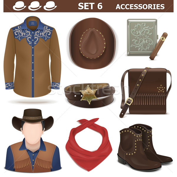 Vector Male Accessories Set 6 Stock photo © dashadima