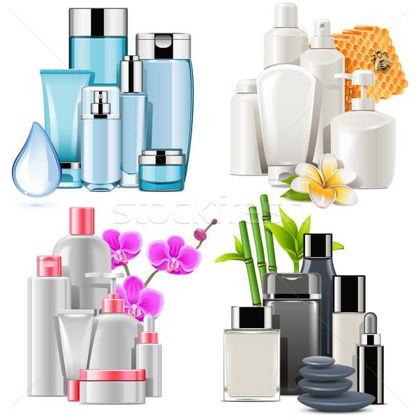 Vetor cosmético produtos isolado branco corpo Foto stock © dashadima