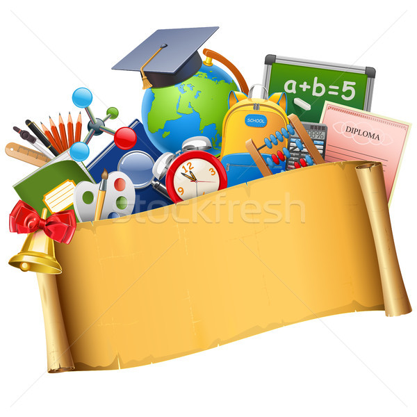 Vector School Graduation Concept Stock photo © dashadima