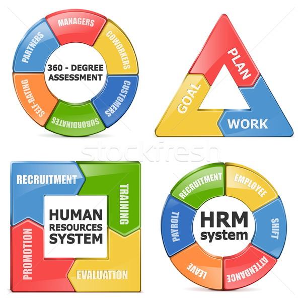 Vektör diyagramları iş eğitim başarı grafik Stok fotoğraf © dashadima