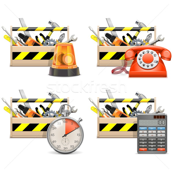 Vector Toolbox Icons set 2 Stock photo © dashadima